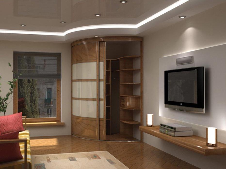 Встроенные шкафы в гостиную.